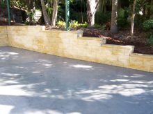 Retaining Wall and Landscaping