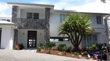 Stone walling and Pandanus